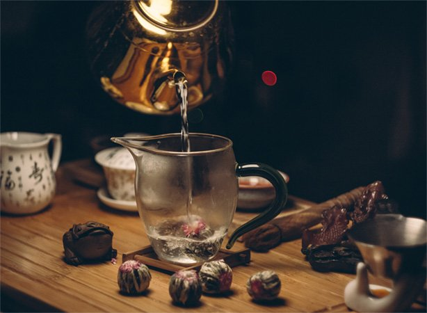 Tea Infusions being poured