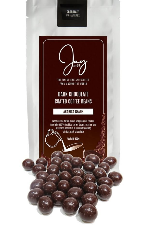 DARK CHOCOLATE COATED COFFEE BEANS