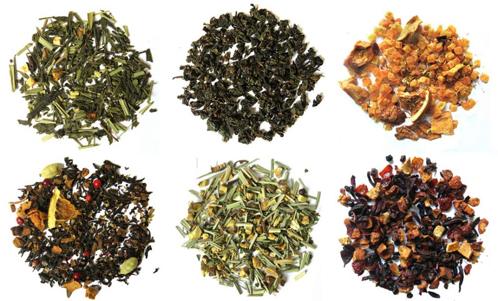Dried tea and tea infusions