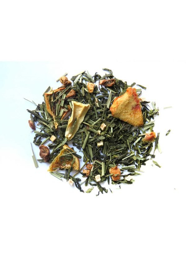 ORANGE SENCHA TEA WITH PASSION