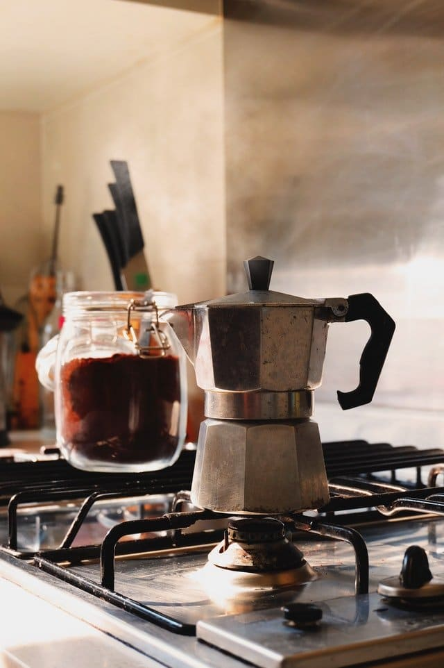 Stove top coffee maker (Moka pot)